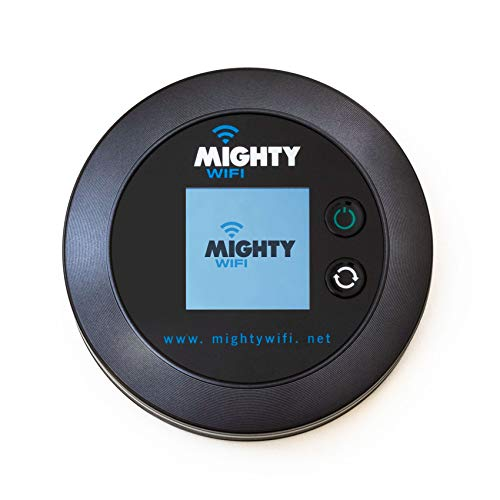 MightyWifi Mighty M1 4G LTE Mobile Hotspot, Worldwide High Speed Mighty M1 WiFi Hotspot with Free 3GB Global Data Added, No SIM Card Roaming Charges International Pocket WiFi Hotspot Device
