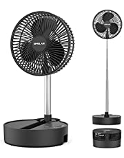 OPOLAR Battery Operated Portable Fan,Rechargeable Oscillating Fan, Cordless Travel Foldaway Fan As Seen on Tv, Adjustable Height, 3 Speeds Settings,10000mAh, 5V/2A Fast Charging