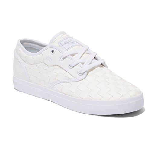 Der bunte Skate-Schuh der Kugel-Männer Weiß gewebt