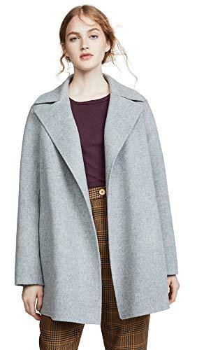Theory Women's Overlay DF Coat, Blue Grey, Medium