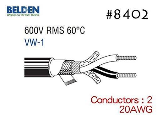 F/S Belden 8402 Speaker Shielded Cable 4M Raw two-core Cord 20AWG Electric - Canton Malls Near Ohio