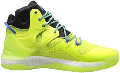 Rendement Adidas Mens D Augmenté De 7 Primeknit Chaussure De Basket Tissu Bleu De Rayon Jaune / Noir Solaire