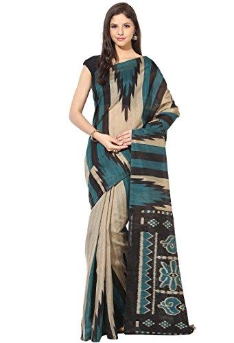 Fostelo Women's Bhagalpuri Mutlicolor Sari with Blousepiece (PCS-43)