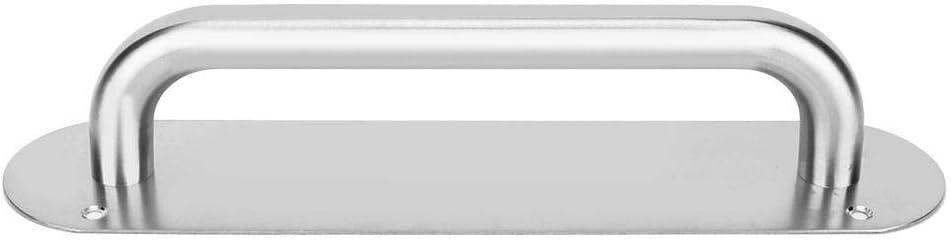 1 Cafopgrill Tirador de Acero Inoxidable y Placa de Empuje Puerta de Acceso Tirador de Puerta con Tornillos Juego de manijas de Entrada