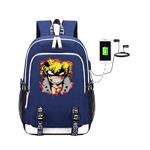 Con Di Anime Trekking Student My Zaino Academia Book Usb Hero Game Porta Dayback Schoolbag A03 Bag Laptop Ricarica Casual Unisex Canvas t0wqvT