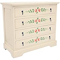 NES Furniture Nes Fine Handcrafted Furniture Solid Mahogany Wood Mia Dresser - 36, Ivory