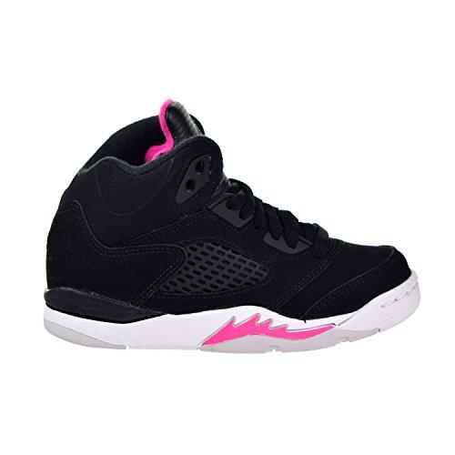 1e3df3f8cce Galleon - NIKE Jordan Retro 5 Little Kids' Basketball Shoes Black/Deadly  Pink/White 440893-029 (11.5 M US)