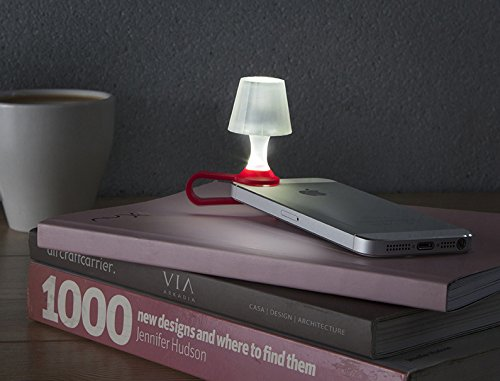 Peleg Design- Luma Smart Mobile Phone Night Light- Tiny Lampshade Clip on Phone Flash Led Light Holder, Red by Peleg Design (Image #3)
