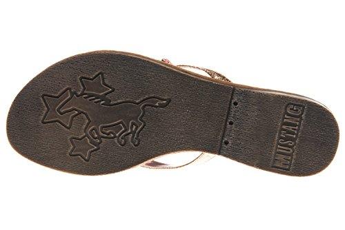 Mustang Women's 3126-802-221 Flip Flops, Bronze Bronze