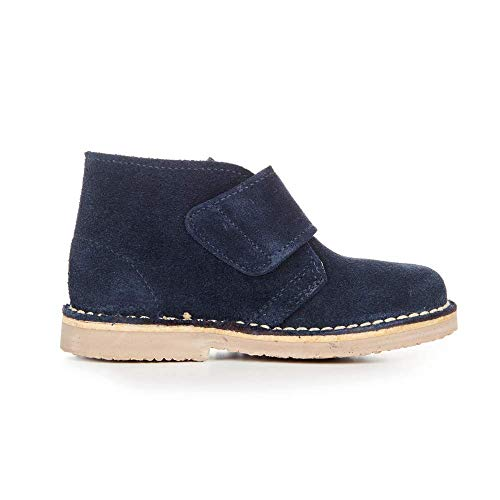 Childrenchic Unisex Safari Suede Boots with Hook and Loop – Shoes for Boys and Girls (Navy Blue, 24 M EU/8 M US ()