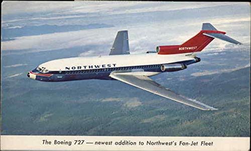 Northwest Airlines - Boeing 727 Aircraft Original Vintage Postcard 1979