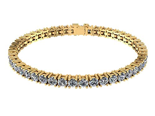 NANA Silver Swarovski CZ Tennis Bracelet- 8