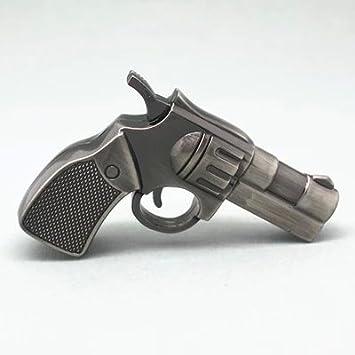 Happy Star® 16GB Metal Efecto Pistola de revólver Pistola Cool Novelty USB Memory Stick Unidad Flash Militar Ventiladores Regalo P