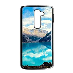Blue Lake And Mountains Black Phone Case for LG G2