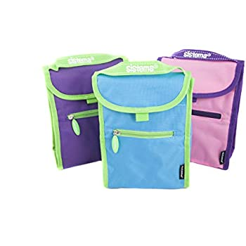 Amazon Com Sistema Small Fold Up Lunch Bag Assorted