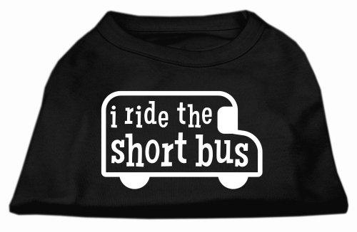 - Mirage Pet Products I Ride The Short Bus Screen Print Shirt Black XXL (18)