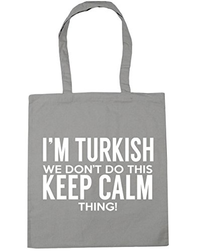 HippoWarehouse I 'm turco que no hacer esto lo Keep Calm bolsa de la compra bolsa de playa 42cm x38cm, 10litros gris claro