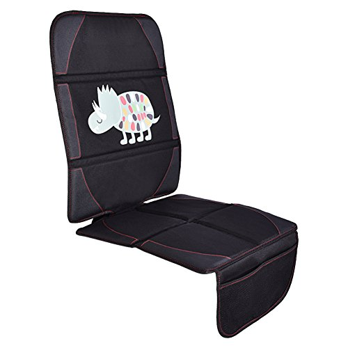 Car Seat Protector, Vbestlife Seat Saver with Thickest Padding for Carseat- L Size for Superior Coverage, Durable, Water-Resistant 600D Fabric, PU Leather Corners & 2 Large Pockets for Handy Storage