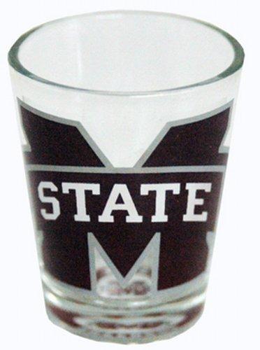 NCAA Mississippi State Bulldogs Shotglass Clear - Glass Ncaa Mississippi Bulldogs State