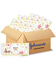 Johnson's Baby Ultra Sensitive Skincare Wipes Fragrance Free, 75 count (Pack of 12)
