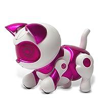 Tekno Newborns Pet Cat Toy Robotic Kitty Gato interactivo que salta, camina y suplica.