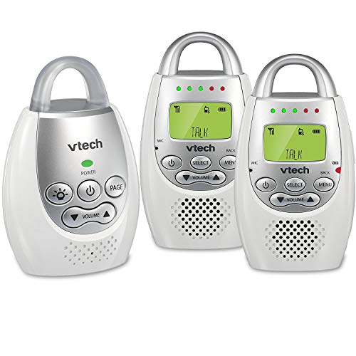 Buy Cheap VTech DM221-2 Audio Baby Monitor with up to 1,000 ft of Range, Vibrating Sound-Alert, Talk...