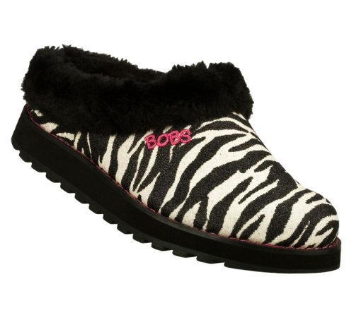 BOBS from Skechers Women's Keepsakes-Animal Slipper,Zebra,5.5 M - Bobs Zebra Shoe