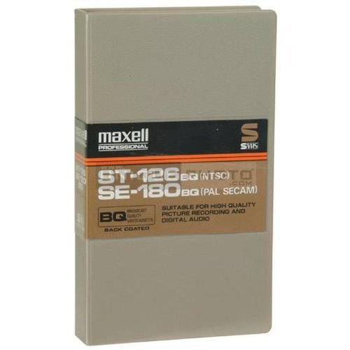 Maxell ST-126 / SE-180 BQ Broadcast Quality Videocassette - Single Tape