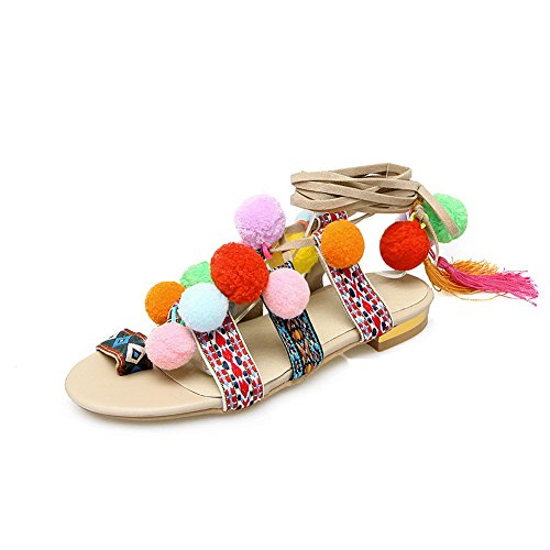 MJS03154 Dots Polka Urethane Womens 1TO9 Dots Polka Sandals Beige Soft Ground qzwAfI