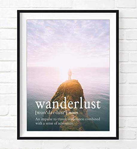 Amazon.com: Definition, Wanderlust, an Impulse to Travel, Restless Combined with a Sense of