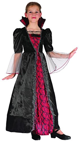 Easy Mother Daughter Halloween Costumes (YOU LOOK UGLY TODAY Girl's Gothic Halloween Vampiress Dress-up Costume, Quality Fabric, Washable & Durable-Small)