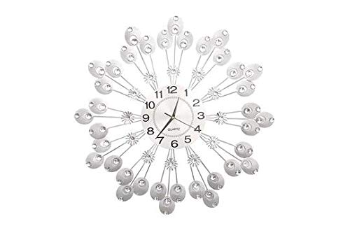 Heaven Home Wall Clock Metal Large Numeral Vintage Garden Home Outdoor Face 69cm Round Open Home Decor Traditional Luxury