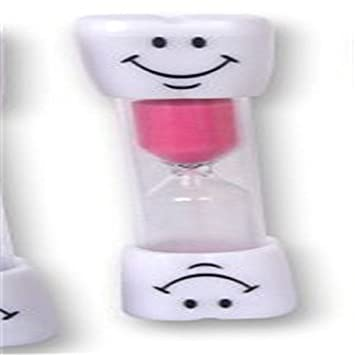 nicebuty rosa Kids Cepillo de dientes temporizador de 2 minutos Smiley arena temporizador: Amazon.es: Hogar