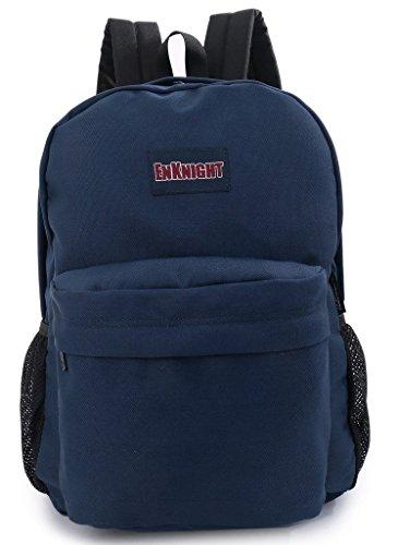 ENKNIGHT Casual School College Backpacks Laptop Bag Schoolbags Daypack Navy