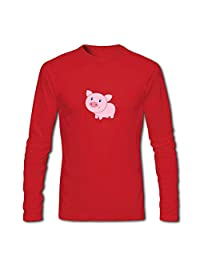 Boys Girls Long Sleeves T-shirts Tops For Cartoon Pig Classic