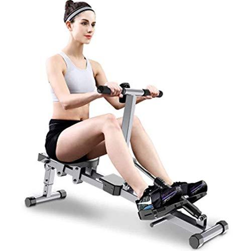 ZJZ Roeimachine, Indoor Resistance Rowing Machine,Indoor Rower Opvouwbare HD Data Display,Double Track, Geschikt voor H