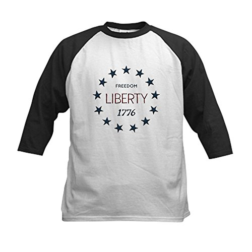 Truly Teague Kids Baseball Jersey 1776 Freedom Liberty Stars - Black/White, Medium (10-12) by Truly Teague