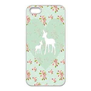 Cool Painting Pink Floral DIY Cover Case for Iphone 5,5S,personalized phone case case570784 by icecream design