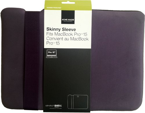 Acme Made Skinny Sleeve Protective Case with StretchShell Neoprene for MacBook Pro 15-Inch - Matte Purple