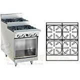 Imperial Commercial Restaurant Range 24 Step Up With 4 Burners/Cabinet Base Propane Ir-4-Su-Xb