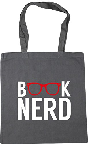 Graphite Grey x38cm Book Gym Tote 42cm litres 10 Bag Beach Shopping nerd HippoWarehouse 7PqRF