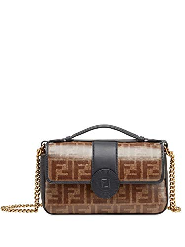 Fendi Women's 8Bt308a5mpf153a Brown Leather Shoulder Bag (Fendi Brown Bag)