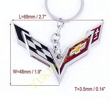 Llaveros de aleación de metal con emblema de Corvette para ...