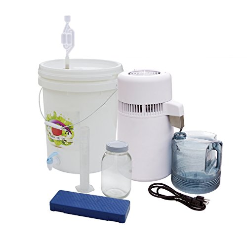 Alcohol Recovery Distiller - RSO Rick Simpson Method - Countertop Alcohol Water Distiller Boiler + 10L Barrel Kit by ECO-WORTHY