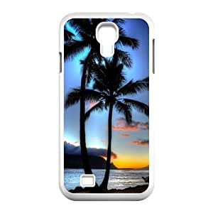 Coconut tree Unique Design Cover Case with Hard Shell Protection for SamSung Galaxy S4 I9500 Case lxa#487686 by runtopwell