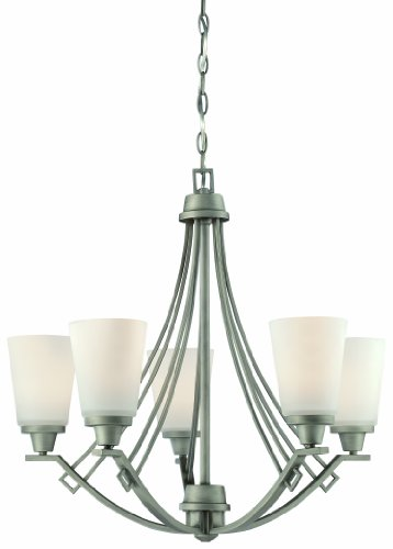(Thomas Lighting 190110718 Wright Chandelier, Antique Pewter )