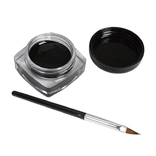 orangeskycn-2-pcs-mini-eyeliner-gel-cream-with-brush-makeup-cosmetic-black-life-waterproof-eye-liner