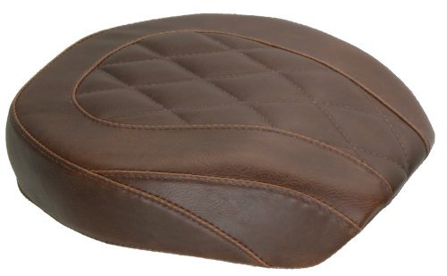 Mustang Motorcycle Seats Brown Wide Tripper Passenger Seat with Diamond Stitching ()