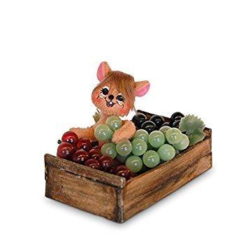 Annalee 3in Grape Crate Mouse by Annalee