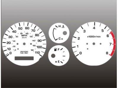 01 White Face Gauge - 2000-2001 Nissan Xterra Frontier White Face Gauges 00-01